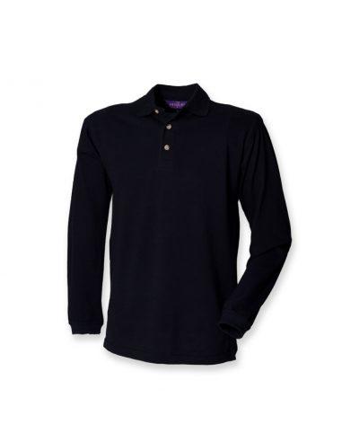 Moška pique polo majica z dolgimi rokavi H105