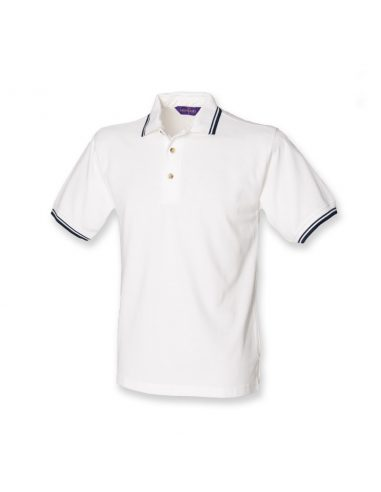Pique polo majica s črtami na ovratniku in rokavih H150