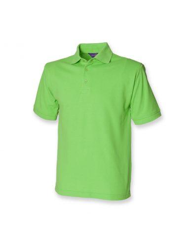 Bombaž pique polo majica s srajčnim nastavkom H400