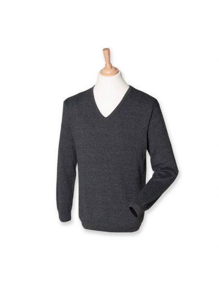Moški pulover z V ovratnikom H720