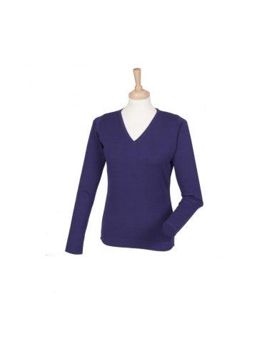 Ženski pulover z V izrezom H721