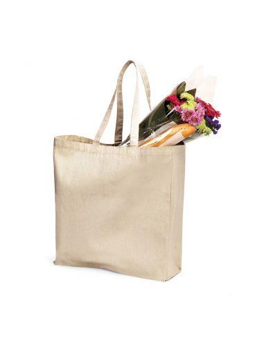 Klasična nakupovalna vreča iz platna W108 naravna