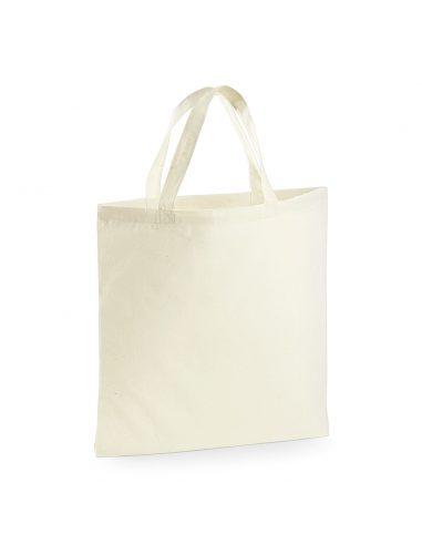 Nakupovalna vreča z večjimi ročaji W100 naravna barva